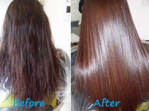 кокосовое масло для волос, фото до и после